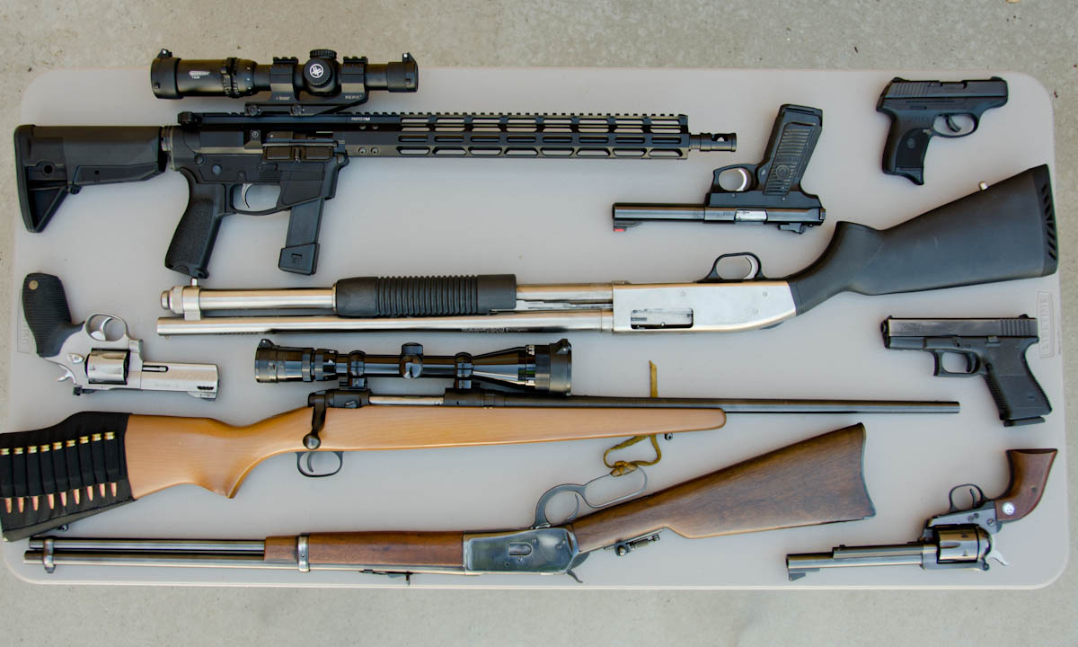 An assortment of guns that our customers own.